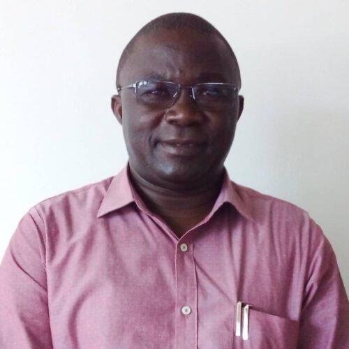 A Tanzanian man with light red shirt.
