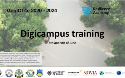 DigiCampus Training for GeoICT4e and Resilience Academy experts